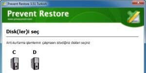 Prevent Restore Ekran Görüntüsü