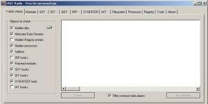 Radix AntiRootkit Ekran Görüntüsü