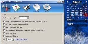 Rainlendar Lite Ekran Görüntüsü