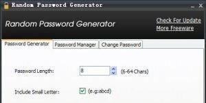 Random Password Generator Ekran G�r�nt�s�