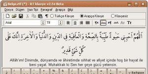 RT klavye Arapça Türkçe Ekran Görüntüsü