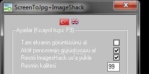 ScreenToJPG+Imageshack Ekran G�r�nt�s�
