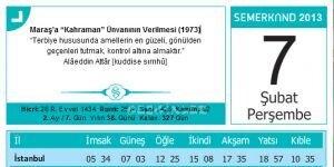 Semerkand Takvimi Ekran Görüntüsü