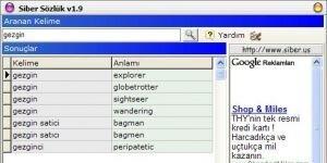 Siber Sözlük Ekran Görüntüsü