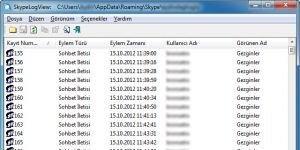 Skype Log Viewer Ekran G�r�nt�s�
