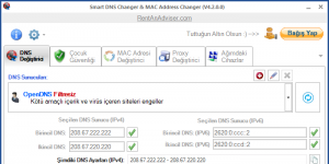 Smart DNS Changer Free Ekran Görüntüsü
