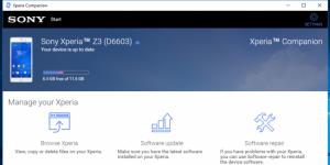 Sony Xperia PC Companion Ekran Görüntüsü