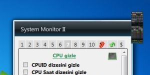 System Monitor II Ekran G�r�nt�s�