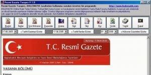 T.C. Resmi Gazete Taray�c� Ekran G�r�nt�s�