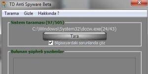 TD Anti Spyware Ekran G�r�nt�s�