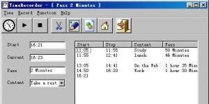 TimeRecorder Ekran Görüntüsü