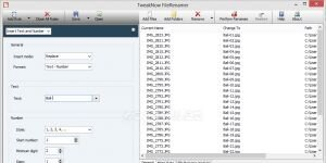 TweakNow FileRenamer Ekran Görüntüsü