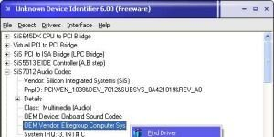 Unknown Device Identifier Ekran G�r�nt�s�