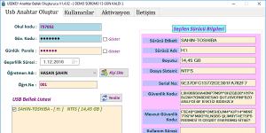 USBKey Akıllı Tahta Koruma Programı Ekran Görüntüsü