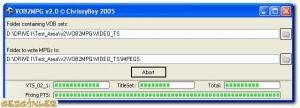 VOB2MPG Ekran G�r�nt�s�