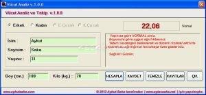 V�cut Analiz Ekran G�r�nt�s�