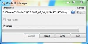 Win32 Disk Imager Ekran Görüntüsü