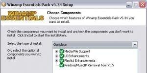 Winamp Essentials Pack Ekran G�r�nt�s�