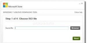 Windows 7 USB/DVD Download Tool Ekran Görüntüsü