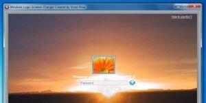 Windows Login Screen Changer Ekran G�r�nt�s�