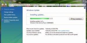Windows Vista Service Pack 2 Ekran G�r�nt�s�
