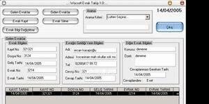 Wocsoft Evrak Takip Ekran Görüntüsü