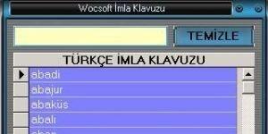 Wocsoft Türkçe İmla Klavuzu Ekran Görüntüsü