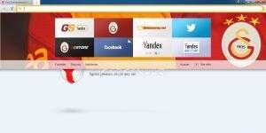 Yandex.Browser Galatasaray Ekran Görüntüsü