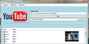 YouTube �ndir (Dailymotion,Facebook,Mp3) Ekran G�r�nt�s�