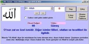 Esma-�l H�sna Zikir ve Ezber Program� Ekran G�r�nt�s�