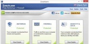 ZoneAlarm Free Antivirus Ekran Görüntüsü